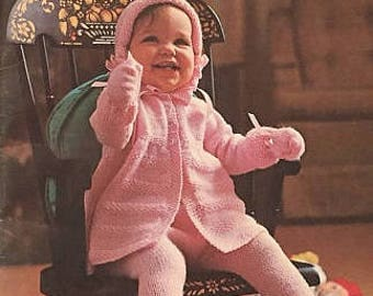 Vintage 1960s Baby Quickerknits PDF Book Knitting Patterns for Babies Patons Beehive Layette Sets Coverlets Toddler Suits Instant eBook