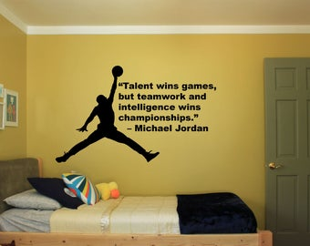 Delightful Michael Jordan Quote Wall Decal // Boyu0027s Room Decal // Girls Decal // Part 27