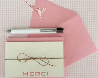 Merci Note Cards with Envelopes