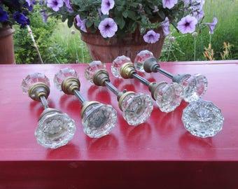 5 Sets Vintage Antique Glass Door Knobs