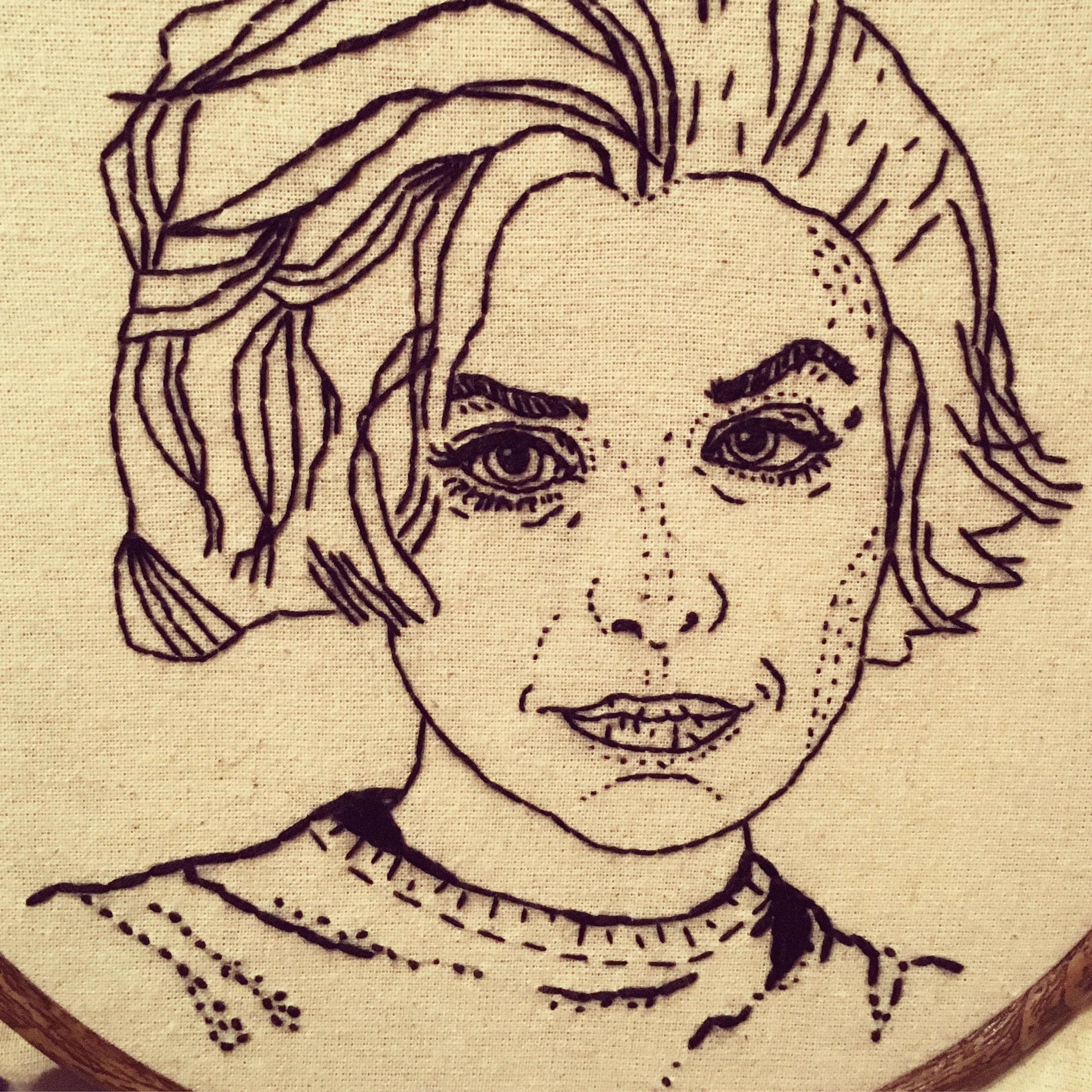 Hand Embroidery. Hoop Art. Jane Austen. Persuasion. Wall