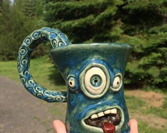 Austin Unique Ceramic Monster Mug