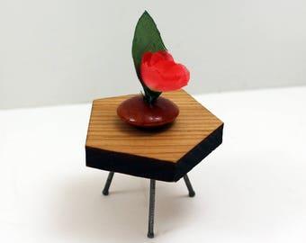 Cedar Side Table Pentagon - Mid Century Modern Miniature