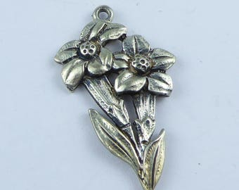 Small silver pendant - stamped 800