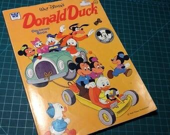 Donald Duck Disney Whitman Coloring Book Vintage