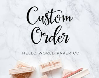 Custom order for  Sara Recknagel  -self inking 2.5 x 1 inch stamp