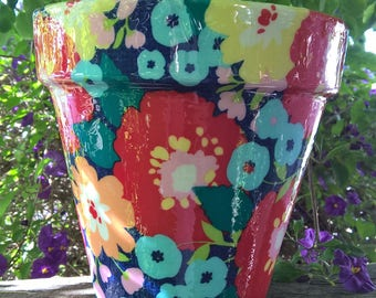 Unique gift,planter,flower pot,indoor planter,outdoor  planter,terra cotta pot,garden,terra cotta planter,garden, home and garden