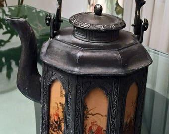 "Antique Vintage Chinese ""Dian Tong"" Buddha Teapot"