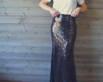 SALE 5 DOLLARS OFF! High waist Sequin Maxi skirt