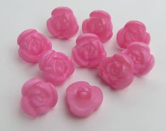 Cute button pink flower