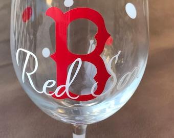 Boston Red Sox Glassware, Sports Glassware, Baseball