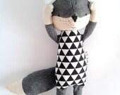 THEO de Vos. Made-to-order. gemaakt met liefde speelgoed. moderne wol fox.eco fox. cadeau voor kinderen. gevulde fox. Toy fox. kamer decoratieve fox Kids.