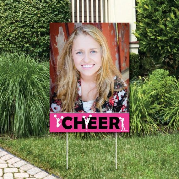 Cheerleading Photo Yard Sign Birthday Party Outdoor Lawn Photo