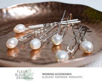 wedding hair pins silver | wedding hair accessories | pearl headpieces for wedding | ivory hairpins | hairpins silver | silver headpiece