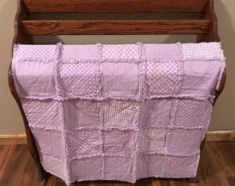 Purple Infant Rag Quilt
