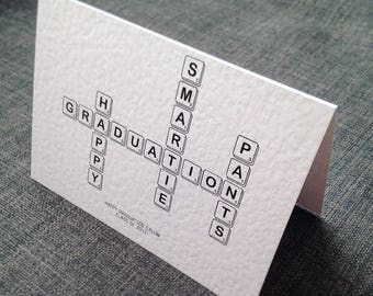 Happy Graduation Scrabble Tile Card