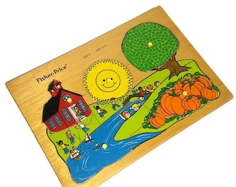 ON SALE Wood puzzle by Fisher Price
