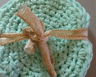 Cotton Hand Crocheted Circle Face Scrubbies