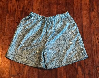 Sequin stretch shorts