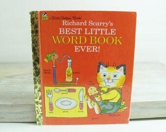 Richard Scarry's Best Little Word Book Ever - Vintage Children's Book - 1997 - Little Golden Book, by Richard Scarry - No 98778