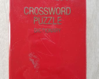 """Vintage """"Vest Pocket"""" Red Crossword Dictionary from Barnes and Noble 1957"""