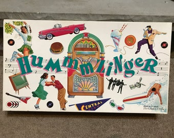 Hummzinger Rock 'n Roll Board Game COMPLETE 1989