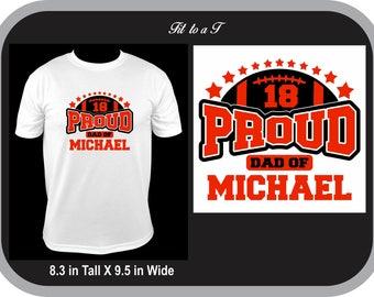 Football Dad T-Shirt, Football Dad Tee, Custom Football Shirt, Spiritwear, Proud Football Dad