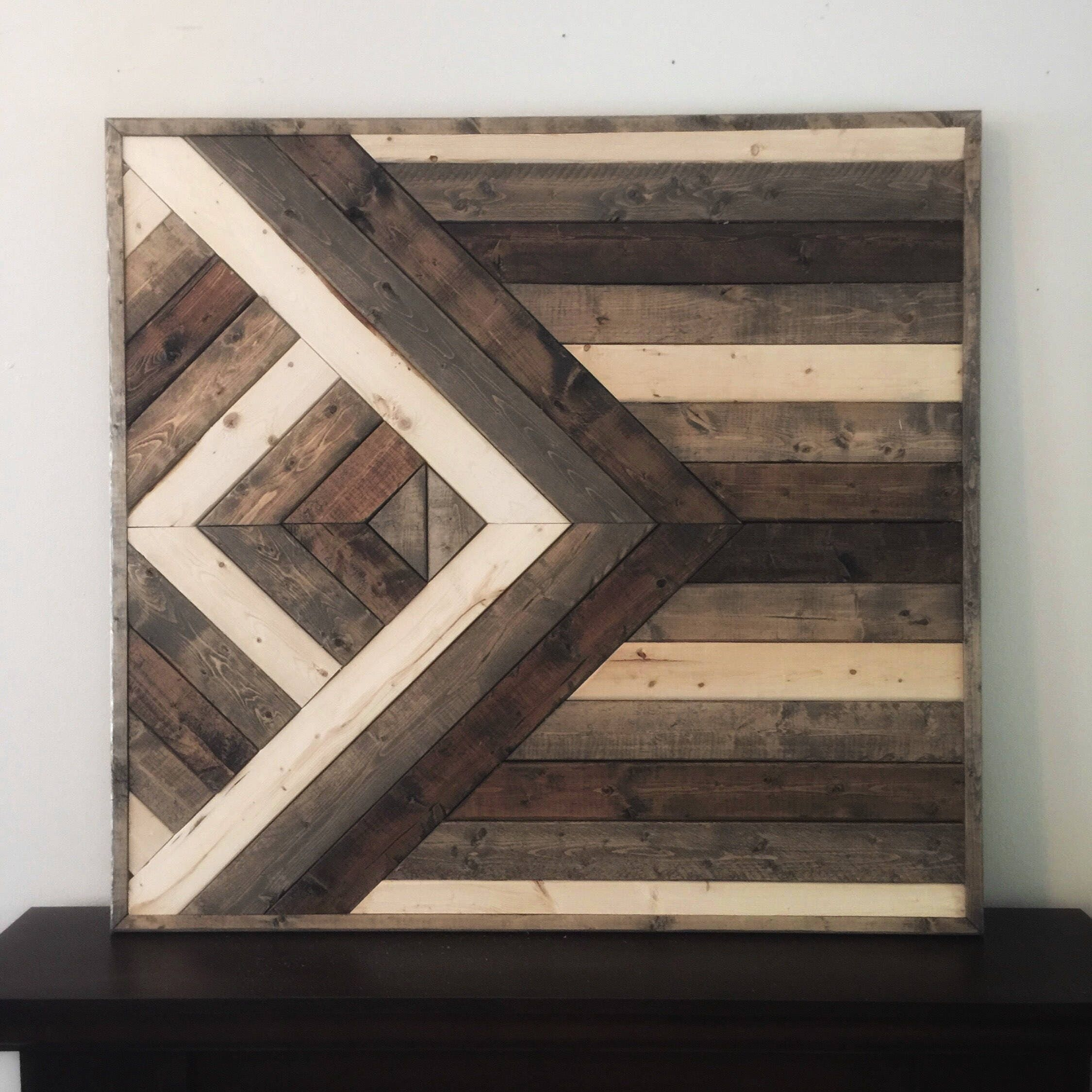 Wooden Wall Art, Shabby Chic Wall Decor, Reclaimed Wood Wall Decor, Nursery  Decor, Wood Wall Art