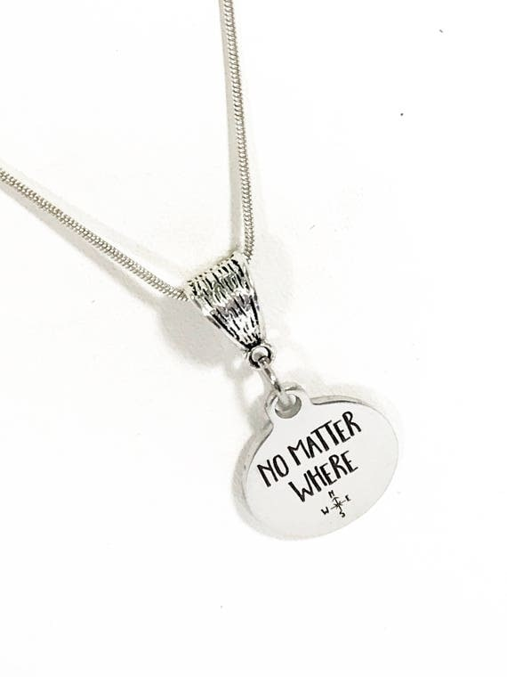 Going Away Gift, No Matter Where Necklace, Daughter Jewelry, Wife Jewelry Gift, Gift For Daughter, Gift For Wife, First Responder Jewelry