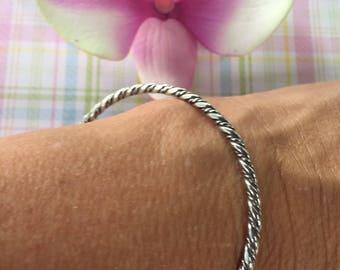 Sterling Silver Twist Bangle Bracelet Vintage Silver Bangle Sterling Jewelry Vintage Sterling Silver Estate Jewelry Silver Bangle