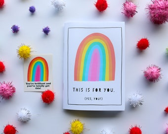 Zine | This Is For You! Zine and Sticker Combo | A6 Art Zine full of love, colour and positive reminders | Handmade | Zines and Books