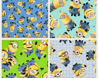 1/2 Yard Minion Fabric / Quilting Cotton / Fabric By The Yard