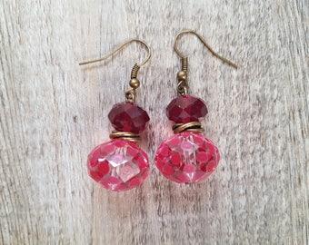 """Vintage pierced earrings """"Diane rose"""""""