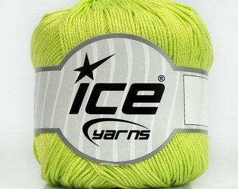 Lime Green Bamboo Yarn, Yarn, Ice Yarn, Bamboo Yarn Size 2 Fine Yarn, Solid Green Yarn, Crochet, Knitting, YARN SALE