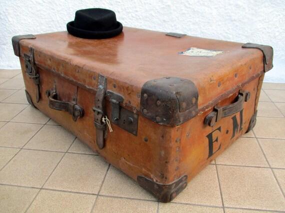 Leather Suitcase HJ Cave Luggage Osilite Trunk Large