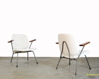 Vintage Industrial Design armchairs/Kembo Gispen/1950s/industrial easy chairs