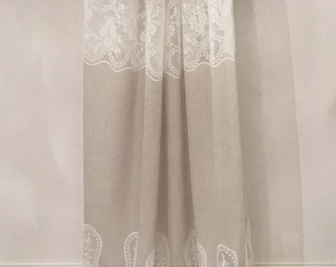 Linen and lace curtain