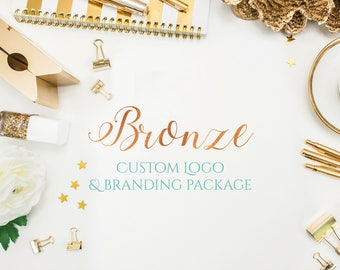 Bronze Custom Logo and Branding Package - Photography Logo - Business Logo - Small Business - Logo Design - Business Logo Design - Custom