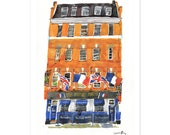 The French House - A2 limited edition signed giclée print by James Oses