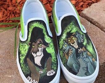 Custom Painted Slip On Vans