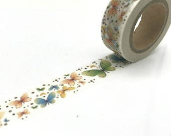 10 meters of butterfly - Washi tape masking tape with butterflies