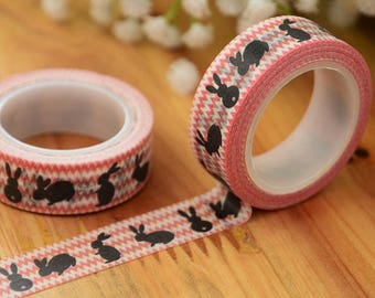 Masking tape with bunnies - Washi tape masking tape rabbit