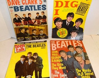 1964 - 4 Beatles Magazines. Vintage