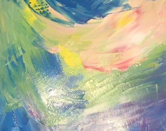 """Synesthesia painting Legend of Zelda Ocarina of Time """"End Credits"""""""