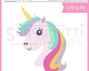 Unicorn Head SVG, unicorn DXF, unicorn clipart, eps, DXF unicorn cut file, svg Files for Cutting Machines