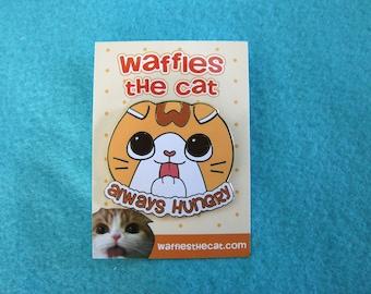 Always Hungry Cute Cat Food Enamel Pin