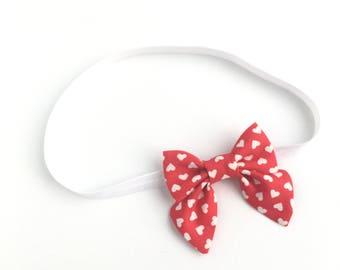 Valentines Headband, Heart Headband, Red Headband, Baby Headband