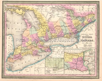 Upper canada map Etsy