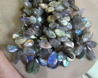 Labradorite 1 strand 10''  34 grams 7X10, 15X20 MM