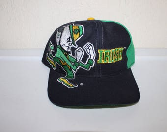 Vintage 90's University of Notre Dame Fighting Irish Snapback by Twins